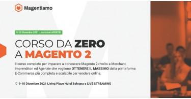 Corso da Zero a Magento2 9-10 Dicembre 2021 Bologna Living Place Hotel
