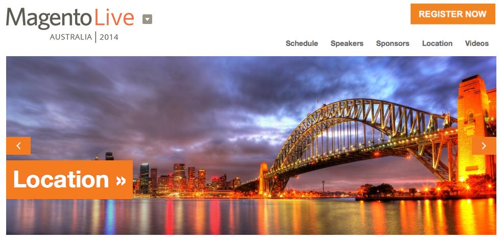 MagentoLive Australia - 13 e 14 Novembre 2014