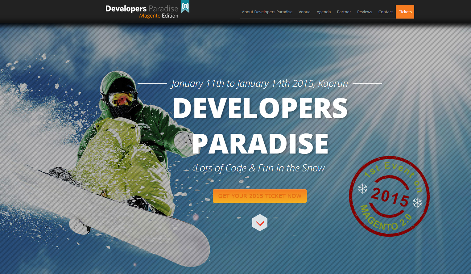 Developers Paradise, Magento Edition 11 -14 Gennaio 2015 Austria