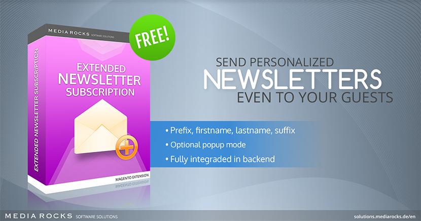 Modulo Magento GRATUITO per aggiungere dei campi aggiuntivi al form di iscrizione alla newsletter