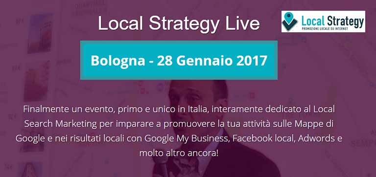 Corso Local Strategy Live: Bologna 28 Gennaio 2017