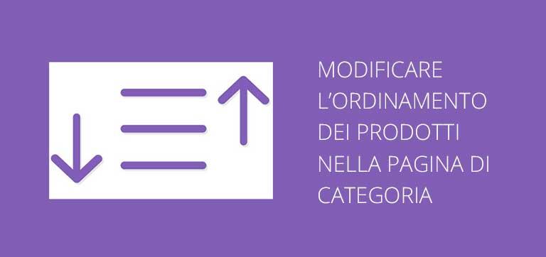 Modificare l'ordinamento dei prodotti nella pagina di categoria Magento