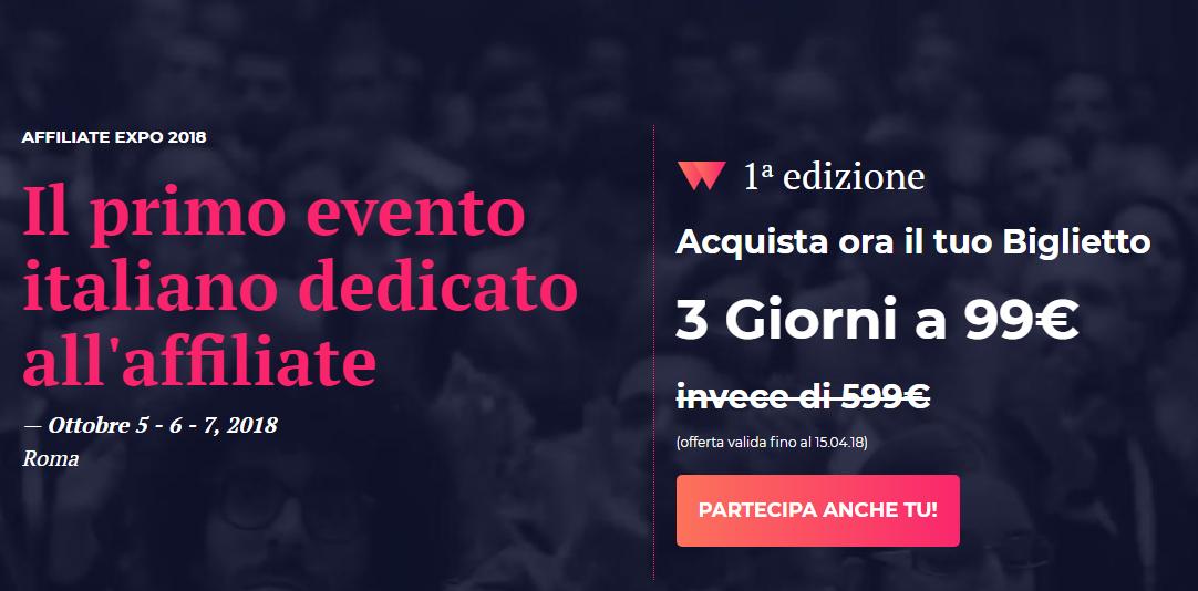 Affiliate EXPO: 5-6-7 Ottobre 2018 Roma