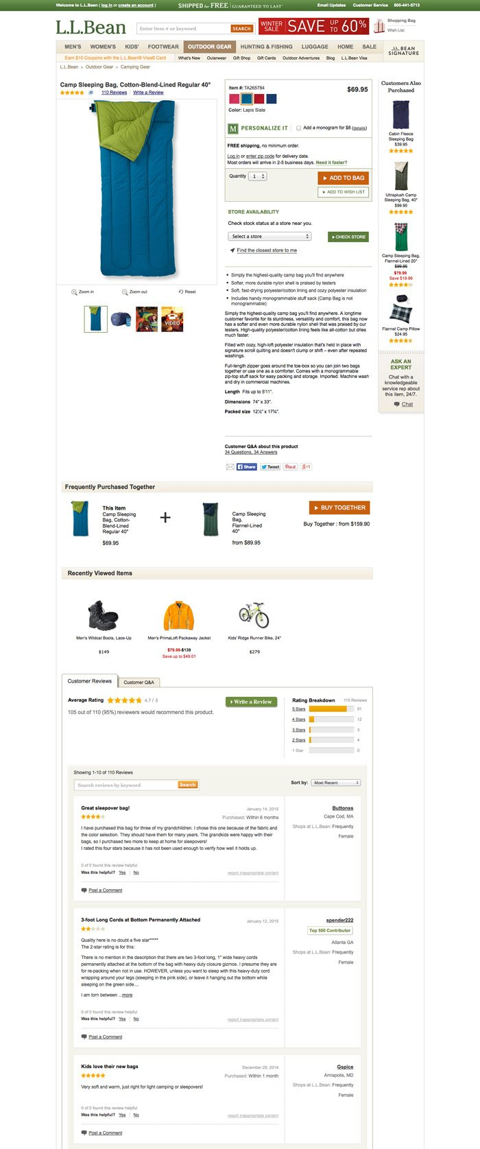 pagina prodotti linee guida E-commerce di successo-